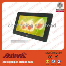 digital photo frame support photo/music/video CE, ROHS approved OEM muti-functional mini wifi digital photo frame
