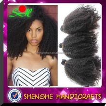 smooth and soft 100% malaysian hair afro curl virgin hair extension
