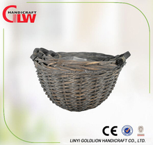 Hemispheric willow wicker garden flower pots,half round decorative willow planter