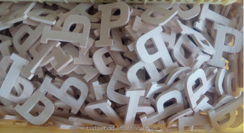 Wholesale wood letters alphabet letter white wooden for Where to buy wooden letters cheap