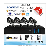 Factory Best price and high Quality Home Security CCTV 720P,960p AHD Cameras 4CH DVR Kit System