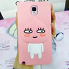 Lovely cartoon case for note3, animal shaped silicon case for samsung note3