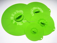 FDA approved food grade food covers silicone suction lids for bowls, cups ,pans or containers set of 4