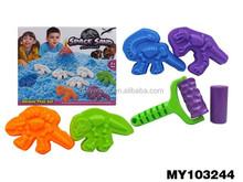New arrival DIY living magic modeling sand coloured sand with dinosaur shape mold sand play equipment