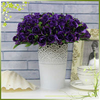 QH26-0036 artificial flowers 26 heads rose bush for indoor decoration and wedding decoration
