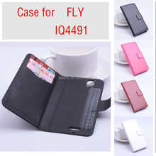 for fly iq4491 era life 3 Case, Wallet Flip Leather Phone Case for fly iq4491 era life 3