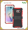 Red Black Hybrid Combo Holder Stand Curved Mirror Slim Shell Case Cover For Samsung Galaxy S6 edge plus