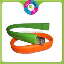 Customer Promotional High Quality Silicone Bracelet USB Wristband Own Logo Factory