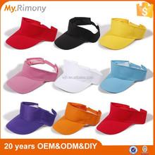 China hot plastic variety colors sun visor cap wholesale for sun visor cap