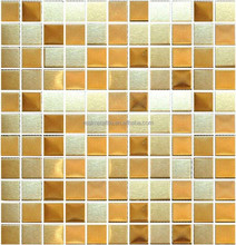 25x25mm wall&floor tiles golden color metal florin mosaic kitchen backsplash