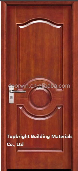 Simple exterior carved pine wood veneer main door design for Single main door designs