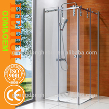 2RC-H6847(7) custom made shower enclosure and glass sliding door with steam bath room with frame