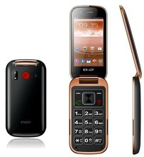 3.2 inch single sim 3G flip Cell phone with big button for elder