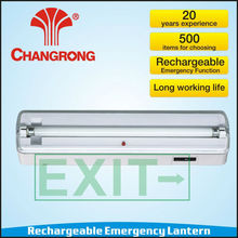 Exit light with emergency function