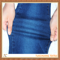 new fashion girls indigo blue 9 oz slub jeans fabric