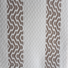stripe white brown air silk knitted latex mattress fabric /memory pillow cloth for student dormitory bed/hotel made in hangzhou