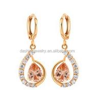 Prevalent Graceful Stud Earrings Shinning Gold Plated Dangler latest design gold earrings 5 gram