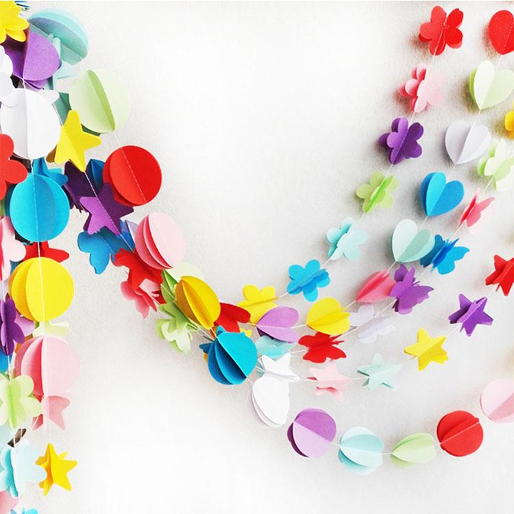 الزفاف/سانت عيد الحب الديكور 3D القلب شكل إكليل من الورق