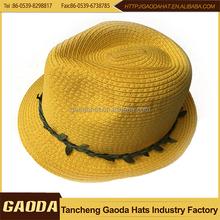 Newest fashion best quality fedora paper straw hat wholesale 2014