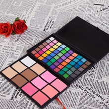 New Pro 72 Color Eyeshadow Palette 60 Eye Shadow 12 Blusher Powder Contour Make Up Palette