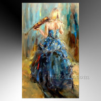 dancing girl painting oil
