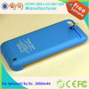 2200mah white and black battery charger case for iPhone5/5S/5C with aluminum back cover