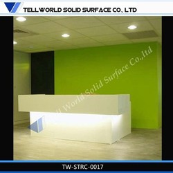 LED white reception desk,white fashion front counter