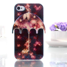 Wholesale IMD 3D Umbrella TPU Soft Skin Back Cover Case For iphone 4 4s