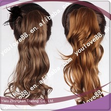 law clip long hair ponytail hairpieces,curly weave ponytail