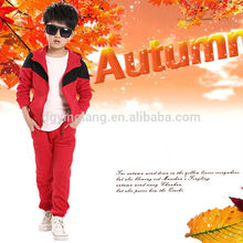 new 2014 fashion design boy's autumn sport suits kids sport suits