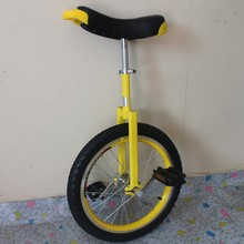 "Motorcycle 16"" Double alloy rim Unicycle Height Adjustable Yellow color CE/ASTM F963-11 Approved"