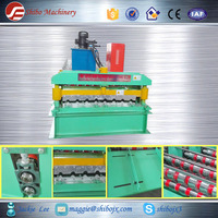 2015 metal tile roofing forming machine production line corrugated C8 C10 C21 for Russia