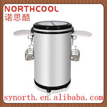 75L party cooler round barrel energy drink display cooler fridge showcase for beverage promotion