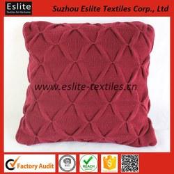 100% Acrylic Handmade Knit Christmas Cushions In Felt