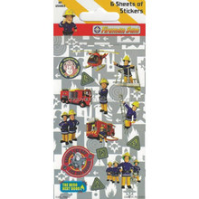 Fireman Party customized stickers