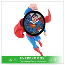 Novelty Design Superman 3d Motion Clock For Fun