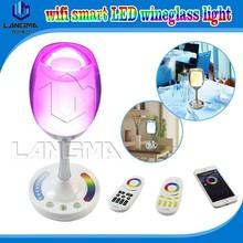 For restaurant/hotel/bar/living room/bedside led table lamp special light rgbw color changing smart light