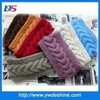 Latest designs handmade fashion ladies knitted headband TS-210