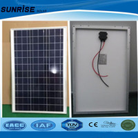 A-grade cell high efficiency 60 W poly solar panel for home