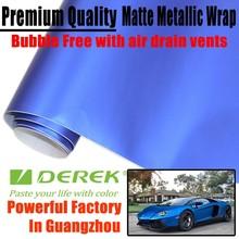 DEREK High quality matte chrome metallic vinyl wrap for car wrapping