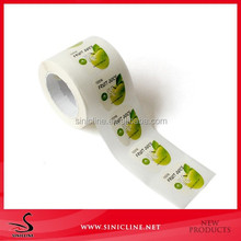 Sinicline paper cheap sticker labels in roll for fruit packing Factory price