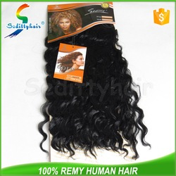most popular Deep Wave kinky straight synthetic hair weft most popular