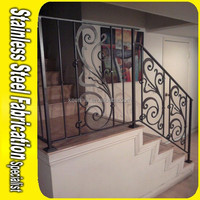 Floor Mounting Stainless Steel Decorative Guardrail for Stairs