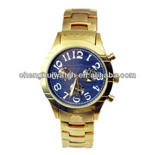 New arrival hotsell fashion alloy gold plated Fashion dom watches