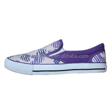 fashion comfortable slip-on vulcanized canvas shoes for girls 2015