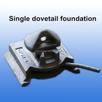 Forged molten container dovetail twist locks