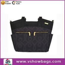 Custom chevron shoulder diaper bag ; nylon fancy diaper bag; travel nappy changing bag