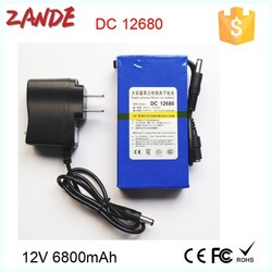 Used widely Super Mini DC-12680 6800mAh 12V Rechargeable li-on ups battery
