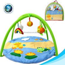 Lovely baby play mat educational toy high quality soft stuffed plush baby play gym mat