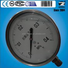 "(YBF-60) 60mm 2.5"" all stainless steel liquid filled level gauge manometre"